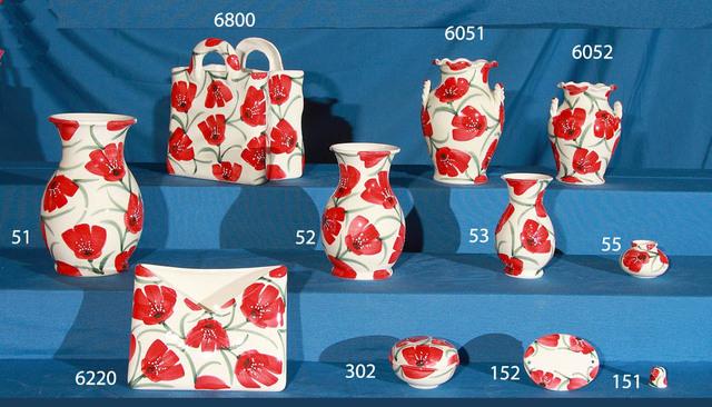 Bolsa floreros jarrones portacartas joyero y dedales de ceramica