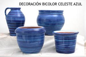 DECORACIÓN BICOLOR  CELESTE AZUL jardineria