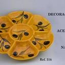 Plato 7 huecos   32 x 32 Cmt.