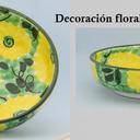 Ensaladeras decoración verde y amarillo