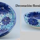Ensaladeras decoración azul celeste