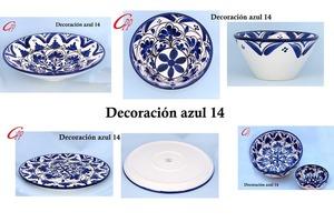 Cuenco conico decoración azul 14