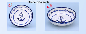 ensaladeras decoración ancla