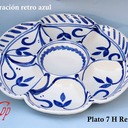 Plato 7 H  medidas 33x4 cm.